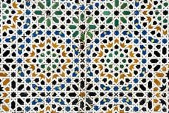 Arab mosaic. Geometric Islamic mosaic in Morocco Royalty Free Stock Photography