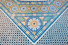 Arab mosaic. Arabic ceramic tiles on the floor Stock Photography