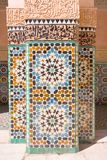Arab mosaic. Arabic ceramic tiles on the wall Royalty Free Stock Photo
