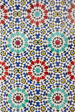 Arab mosaic. Traditional arabic ceramic tiles. Morocco Stock Image