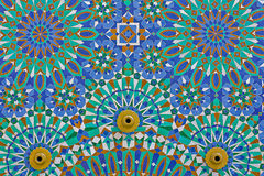 Arab mosaic in the Hassan II Mosque in Morocco Royalty Free Stock Photos