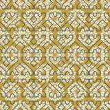 Arab mosaic tile vintage seamless pattern vector illustration