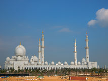 Arab mosque. Sheikh Zayed mosque at Abu-Dhabi, UAE royalty free stock images