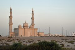 Arab mosque on an autumn day in Abu Dhabi, the capital of the UAE stock images