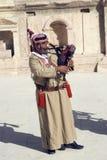Arab musician, Jerash, Jordan Stock Photo