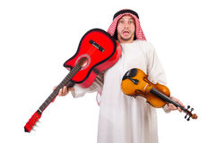 Arab musician with violin Royalty Free Stock Photos