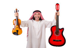 Arab musician with violin Stock Photo