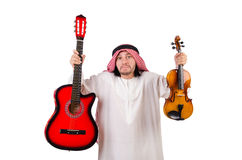 Arab musician with violin Stock Images