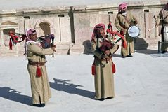 Arab musicians, Jerash, Jordan Royalty Free Stock Photography