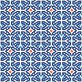 Arab muslim mosaic tile vintage seamless pattern Stock Image