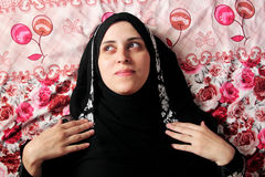 Arab muslim woman with veil Royalty Free Stock Image