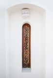Arab narrow window with stained glass Stock Photo