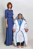 Arab och hans fru arkivbilder