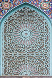 Arab ornament on window of mosque Royalty Free Stock Images