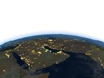 Arab Peninsula at night on planet Earth Stock Photos