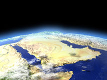 Arab Peninsula from space Stock Photo