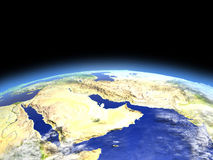 Arab Peninsula from space Royalty Free Stock Images