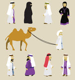 Arab people. Vector hand drawn illustration of oriental people Royalty Free Stock Image