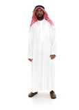 Arab person. Standing on whit Royalty Free Stock Images