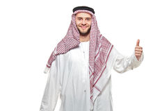 An arab person with a thumbs up Royalty Free Stock Photos