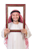 Arab with picture frame Stock Image