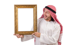 Arab with picture frame Stock Photos