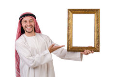 Arab with picture frame Stock Images