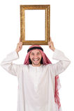 Arab with picture frame Royalty Free Stock Photos
