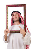 Arab with picture frame Royalty Free Stock Photo