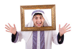 Arab with picture frame Stock Photo