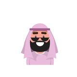 Arab Profile Icon Male Avatar Man, Muslim Cartoon Guy Portrait Stock Photography