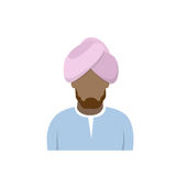 Arab Profile Icon Male Avatar Man, Muslim Cartoon Guy Portrait Royalty Free Stock Images