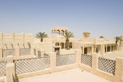 arab reconstructed village Royaltyfri Fotografi