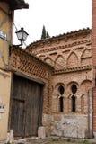 Arab remains in a street of. Tordesillas province of Valladolid, Castilla y Leon, Spain Royalty Free Stock Image
