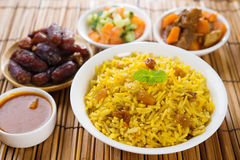 Arab rice. Ramadan food in middle east usually served with tandoor lamb. Middle eastern food Stock Photos