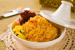 Arab rice in a tajine Royalty Free Stock Image