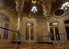 Moorish Revival Arab Room in the Bolsa Palace. Arab Room in the Bolsa Palace, built between 1862 and 1880 by Goncalves e Sousa in the exotic Moorish Revival stock photo