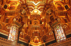 Arab Room ceiling in Cardiff castle Stock Photography