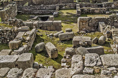 Arab ruins archeological site Royalty Free Stock Images
