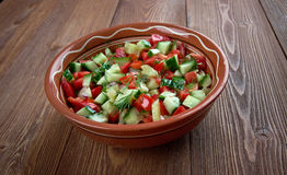 Arab salad. Vegetarian lich close up Stock Image