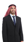 Arab saudi emirates businessman posing smiling standing Royalty Free Stock Photography