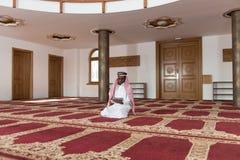 Arab Saudi Emirates Man Using A Smart Touchpad Stock Image