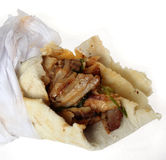 Arab shawarma close-up Stock Images