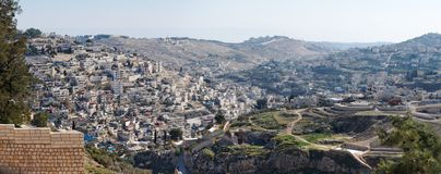 Arab Silwan neighborhood in East Jerusalem Royalty Free Stock Images