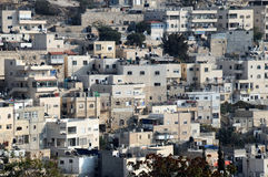 Arab Silwan Village in Jerusalem Stock Photography