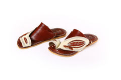 Arab Soles. This Soles was used in the past by the old men & the one how want to travel in the desert Stock Photos