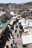 Arab Souk near Damascus Gate from above Stock Image