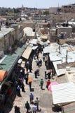 Arab Souk nära den Damascus porten från över Fotografering för Bildbyråer