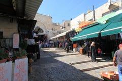 Arab Souk och Damascus port, Jerusalem Royaltyfri Foto