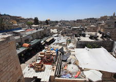 Arab Souk from Ramparts Damascus Gate Royalty Free Stock Images
